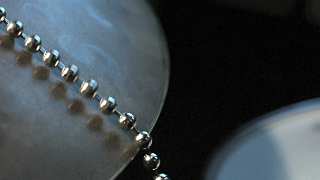 Sizzler chain on a cymbal