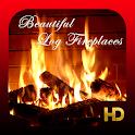 Beautiful Log Fireplaces HD icon