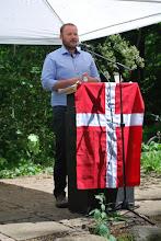 Photo: Årets grundlovstaler: Søren Tange Rasmussen, museumsinspektør i Den Gamle By og leder af Besættelsesmuseet