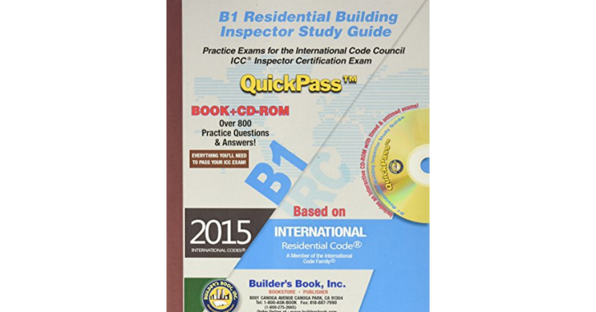 1622701089 Residential Building Inspector Quickpass Studypdf