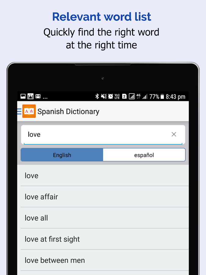 Spanish Dictionary - English Spanish Translator- screenshot