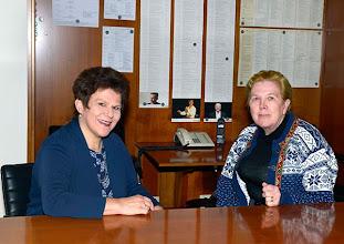 Photo: Dr. Renate Wagner bei Interview mit KS. Soile Isokoski (November 2014). Foto: Barbara Zeininger