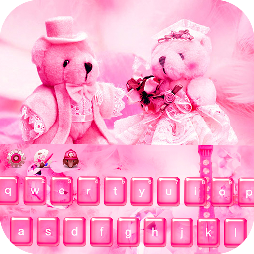 Pink Teddy Bear love keyboard (app)