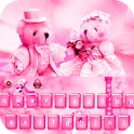 Pink Teddy Bear love keyboard icon