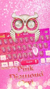 Pink Diamond Owl Keyboard - náhled