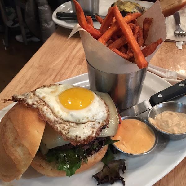 Bison burger!
