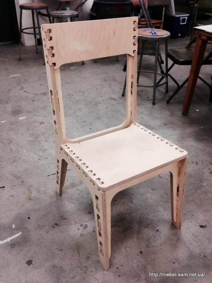 Фанерный стул без фотошопа))