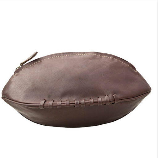 Leather Rugby Ball Washbag