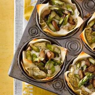 Asparagus-Mushroom Mini Lasagnas