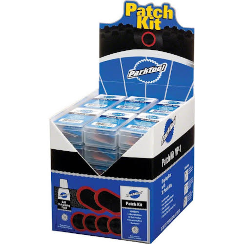 Park Tool Vulcanizing Patch Kit: Display Box with 36 Individual Kits