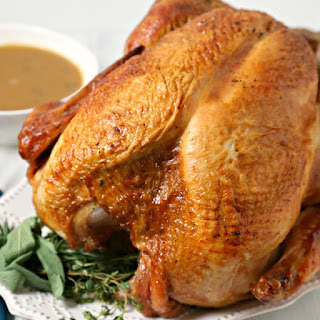 Mustard Maple Glazed Roast Turkey with Homemade Gravy