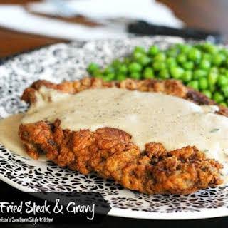 Chicken Fried Steak And Gravy.