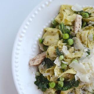 Chicken Pesto Tortellini with Kale and Peas