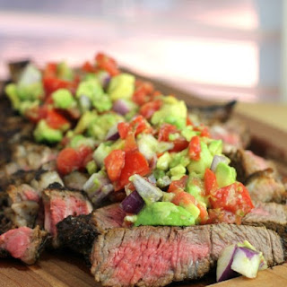 Coffee-Crusted Bone-in Ribeye with Avocado Relish