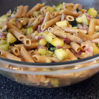 Whole Grain Penne with Zucchini.