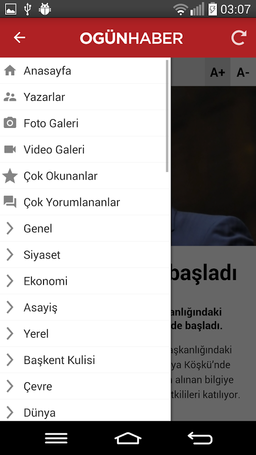 Ogünhaber- screenshot