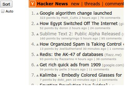 Hacker News Sorter