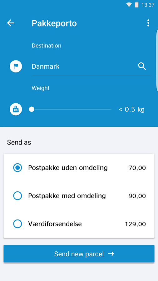 PostNord Denmark- screenshot