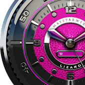 Pink Lizard Watch Face