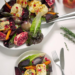 Roast Vegetable Salad with Grilled Halloumi
