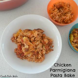 Chicken Parmigiana Pasta Bake