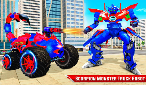 Scorpion Robot Monster Truck Transform Robot Games 9 screenshots 21