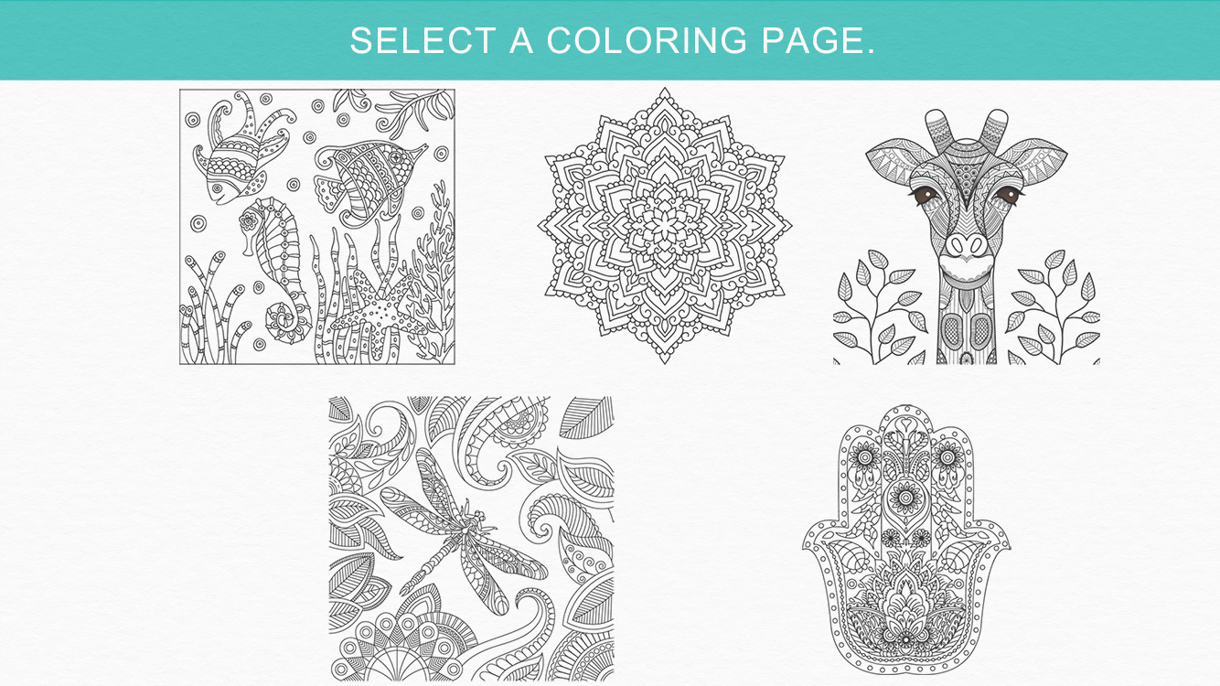 Zen coloring books for adults app - Zen Coloring Book For Adults Screenshot
