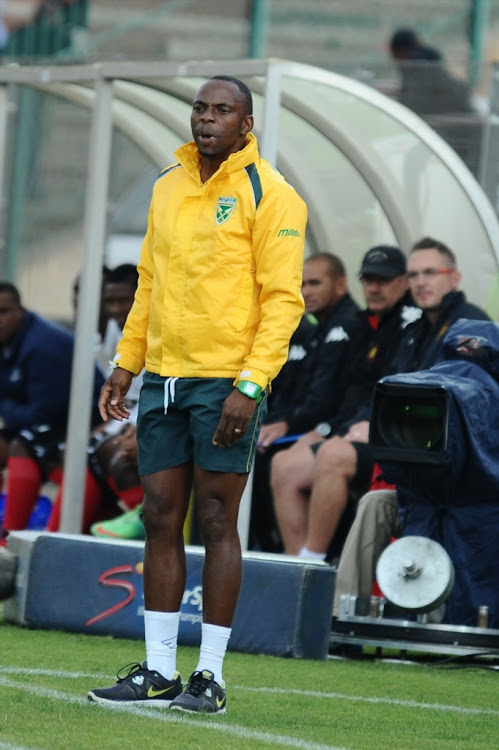 Bheka Phakathi during the National First Division match between Highlands Park and Golden Arrows at Makhulong Stadium on May 10, 2015 in Johannesburg, South Africa.