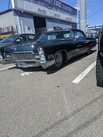 1968 Cadillac DeVille convertible Hire CA
