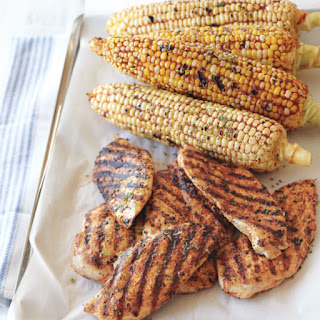 Grilled Chicken and Corn with Smoked Paprika Rub.