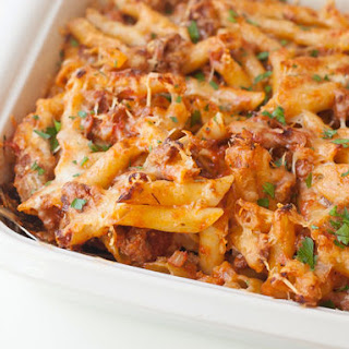 Classic Baked Mostaccioli.