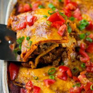 Beef Enchilada Casserole.
