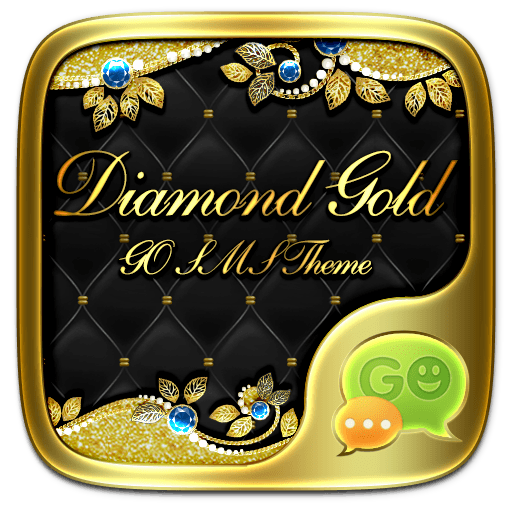 GO SMS DIAMOND GOLD THEME 個人化 App LOGO-APP開箱王