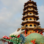 dragon and tiger pagodas at lotus pond in Kaohsiung, Taiwan in Kaohsiung, Kao-hsiung city, Taiwan