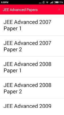 IIT JEE Advanced 10 year paper - screenshot