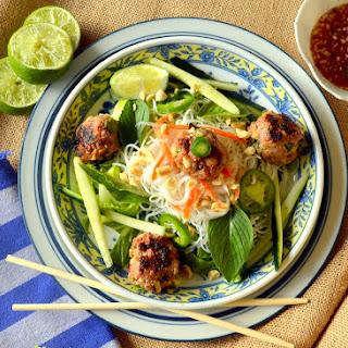 Vietnamese Meatball Noodle Bowl.