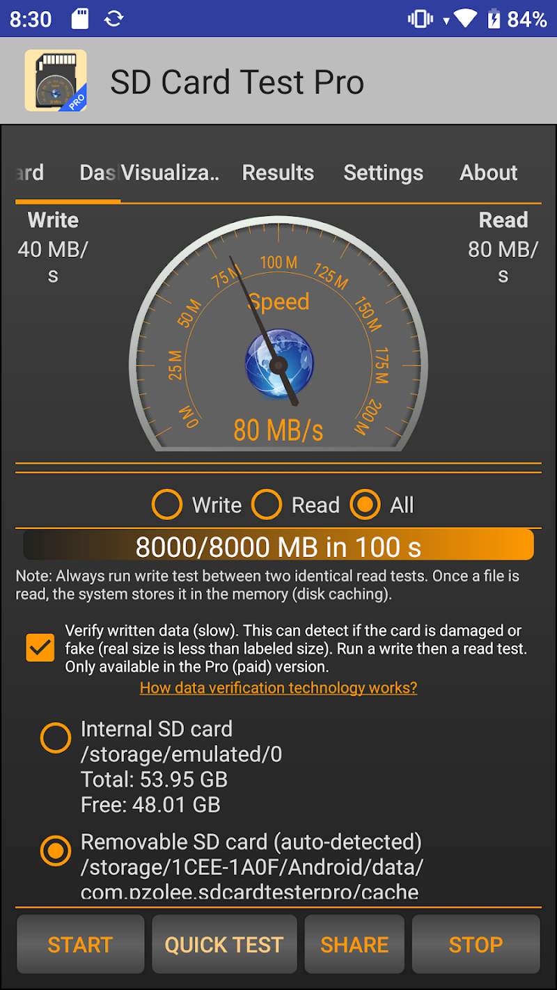 SD Card Test Pro Screenshot 0