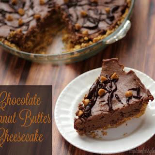 Chocolate Peanut Butter Cheesecake – No Bake, Easy to Make Dessert.