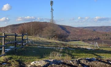 Photo: Hinter dem Sender am Tabor ist der Beerwart zu sehen; rechts Buchberg (~440m), etwas vorgezogen der Sagberg (435m) und Hochram (459m)