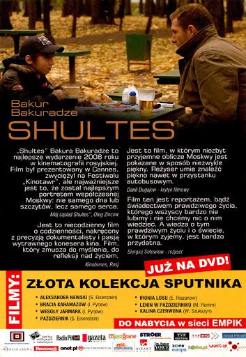 Tył ulotki filmu 'Shultes'