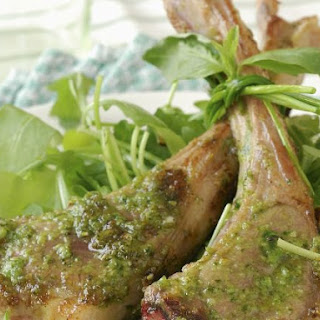 Basil Chops with Rocket Salad