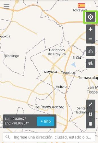 Habilite su GPS de click en el puntero y genere la ubicación, enviar datos de captura de Latitud y Longitud.