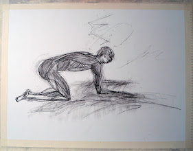 "Photo: Blake Man, Brenda Clews, 2012, 24"" x 18"", 60cm x 45cm, charcoal on 90lb archival paper."