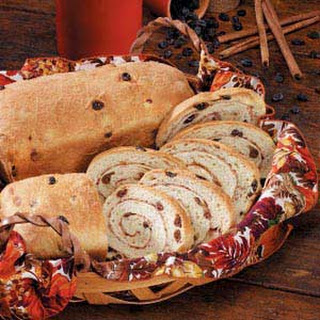 Cinnamon-Swirl Raisin Bread.