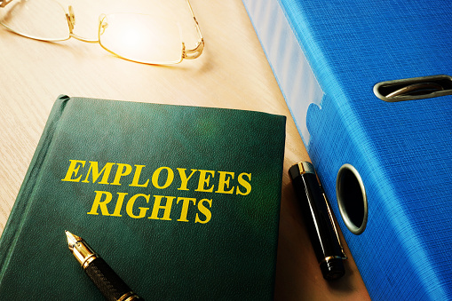 Employees Rights on an office table.
