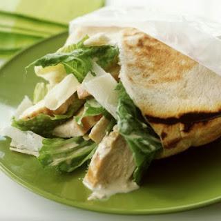 Chicken Caesar Pita Sandwiches