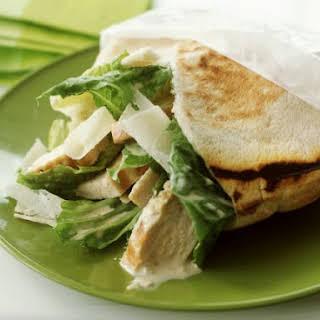Chicken Caesar Pita Sandwiches.