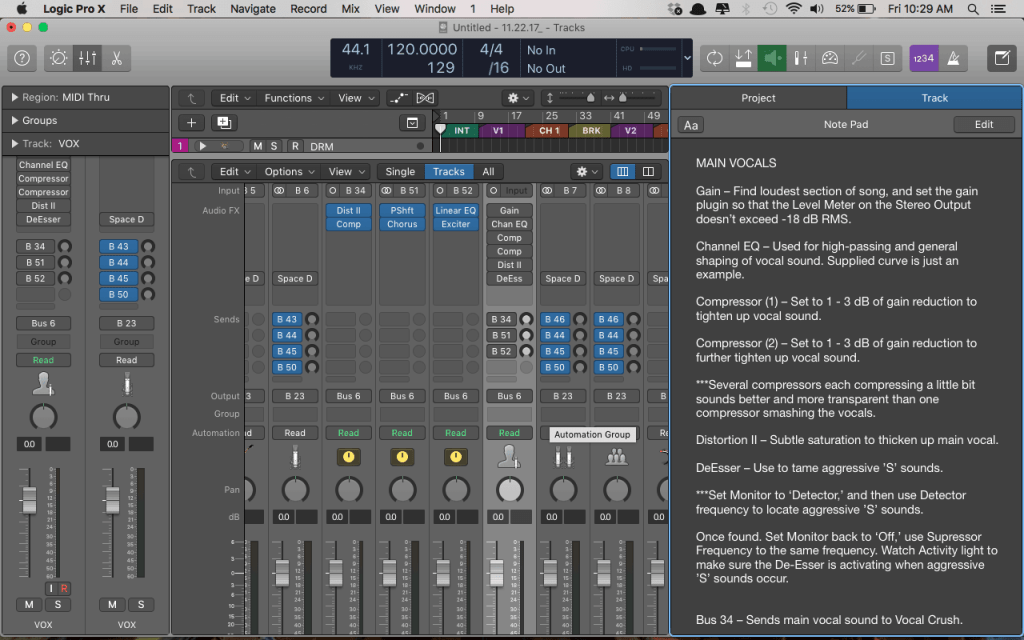 Download the Free Logic Pro X Mix Template