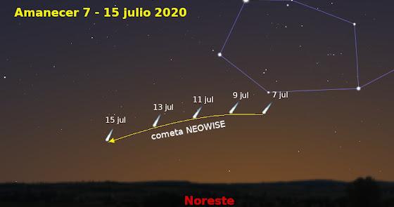 El cometa Neowise se deja ver en Almería: el más brillante de los últimos años