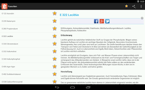 E-Nummer Screenshot